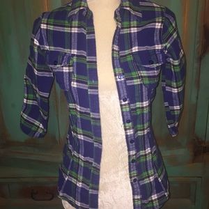 Fresh Brewed Girls Flannel sz S